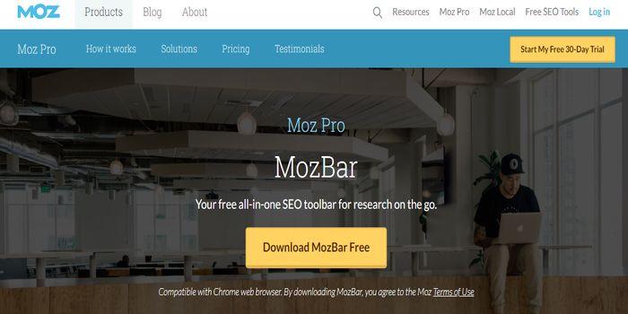 mozbar backlink checker seo tool