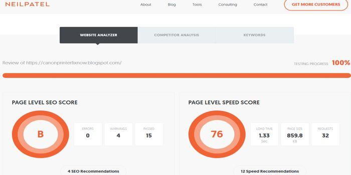 seo tools for website analyzer