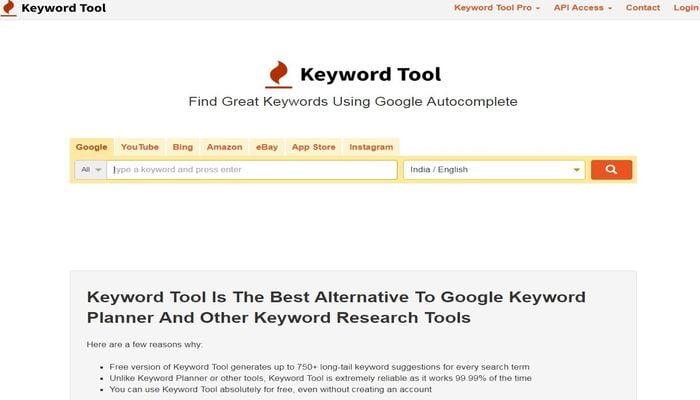 long tail keyword generator keywor tool i o